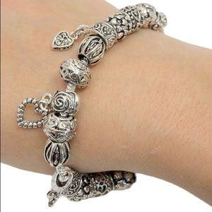 Jewelry - Gold Plated Heart Charm Bracelet 18KTGP